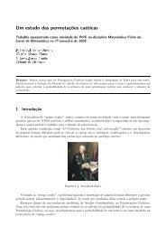 Um estudo das permutações caóticas - Faculdade de Matemática ...