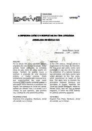 a imprensa livre eo despertar da vida literária angolana no ... - Unesp