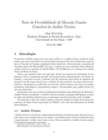 Teste de Previsibilidade de Mercado Usando Conceitos ... - Crea-SP