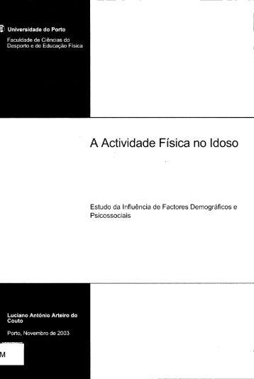 A Actividade Física no Idoso - Repositório Aberto da Universidade ...