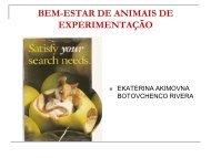 BEM-ESTAR DE ANIMAIS DE EXPERIMENTAÇÃO