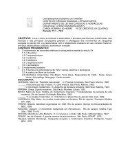 Literatura Brasileira IV - CCHLA - Universidade Federal da Paraíba