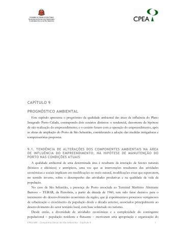 CAPÍTULO 9 PROGNÓSTICO AMBIENTAL