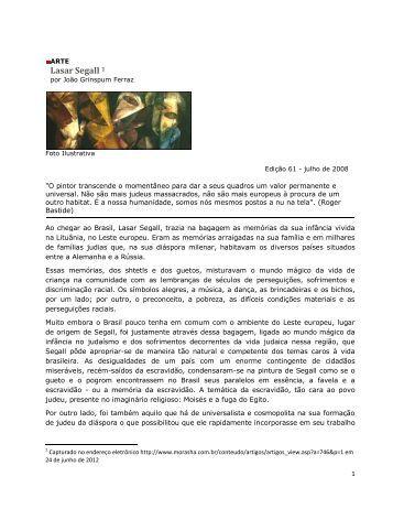 Lasar Segall 1 - Museu de Arte do Espírito Santo