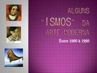 """Alguns """"ismos"""" Da ARTE moderna - Campus Porto Seguro"""