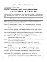 A LITERATURA EM DIÁLOGO COM OUTRAS ARTES