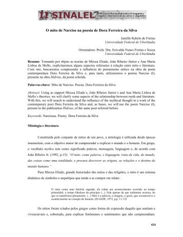 O mito de Narciso na poesia de Dora Ferreira da Silva