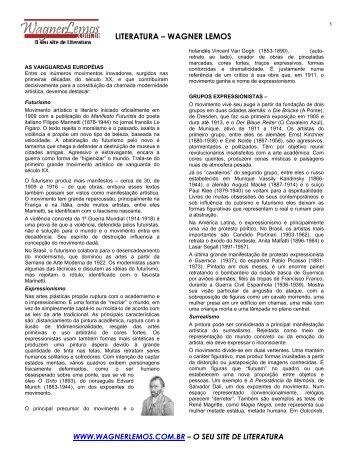 Apostila de literatura conteúdo 3° ano - Wagner Lemos