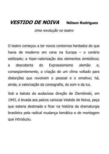 VESTIDO DE NOIVA Nélson Rodrigues