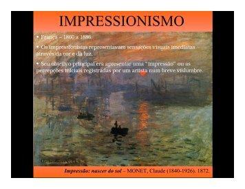 Apresentação - Impressionismo - Pós - Expressionismo - Faccamp