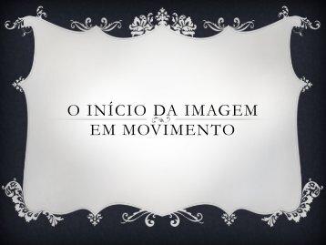 inicio da imagem em movimento