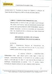 Impugnação ao Edital de Licitação - DNIT