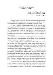 UM SETE DE SETEMBRO LONGE DA PÁTRIA - Academia ...