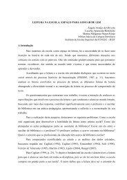 LEITURA NA ESCOLA: ESPAÇO PARA GOSTAR DE LER ... - histedbr
