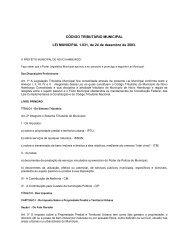 CÓDIGO TRIBUTÁRIO MUNICIPAL LEI MUNICIPAL 1.031, de 24 de ...