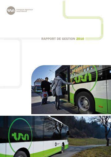 RAPPORT DE GESTION 2010 - TRN