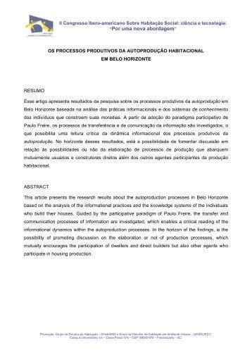 """""""Por uma nova abordagem"""" - Escola de Arquitetura – UFMG"""