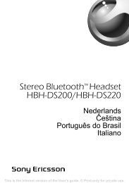 Stereo Bluetooth™ Headset HBH-DS200/HBH-DS220 - Sony