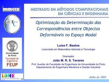 Conclusões - Faculdade de Engenharia da Universidade do Porto