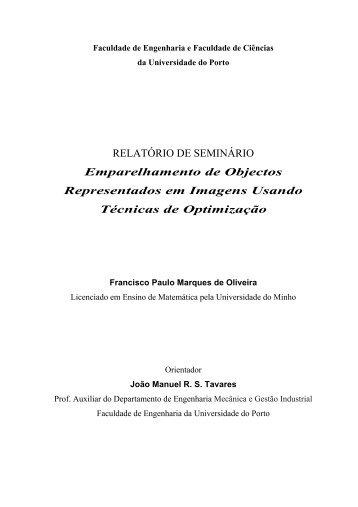 RELATÓRIO DE SEMINÁRIO Emparelhamento de Objectos ...