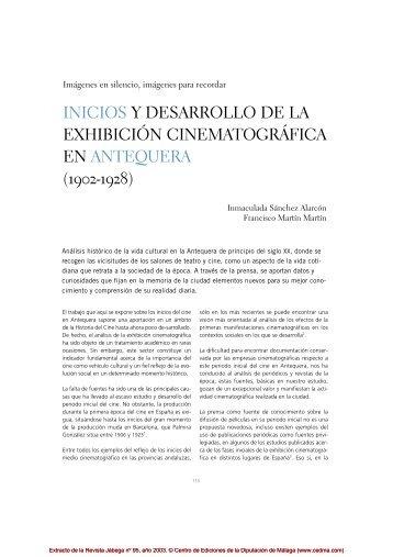 INICIOS Y DESARROLLO DE LA EXHIBICIÓN C I N E M ... - Cedma