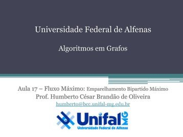 download dos slides - BCC Unifal-MG - Universidade Federal de ...