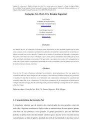 Geração Net, Web 2.0 e Ensino Superior - Universidade Fernando ...