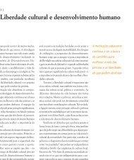 Liberdade cultural e desenvolvimento humano