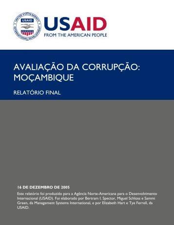 AVALIAÇÃO DA CORRUPÇÃO: MOÇAMBIQUE