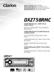 DXZ758RMC - Clarion