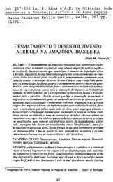 desmatamento e desenvolvimento agricola na amazonia brasileira