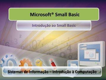 Microsoft® Small Basic - Toledo Portal Universitário
