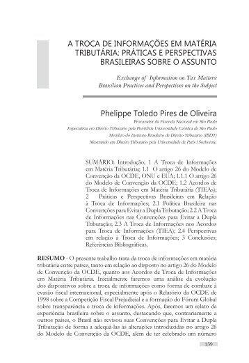A TrocA de InformAções em mATérIA TrIbuTárIA - PGFN ...