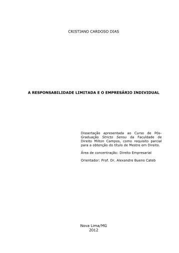 A responsabilidade limitada e o empresário ... - Milton Campos