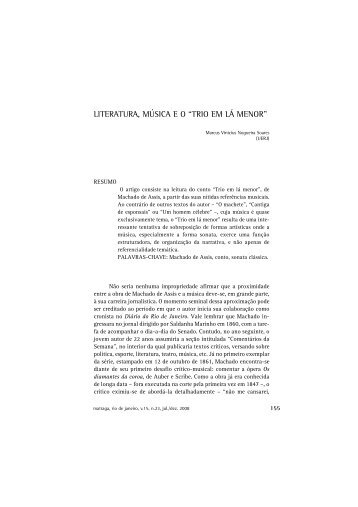 """literatura, música eo """"trio em lá menor"""""""
