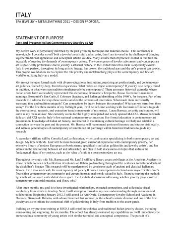 Extended goal statement essay