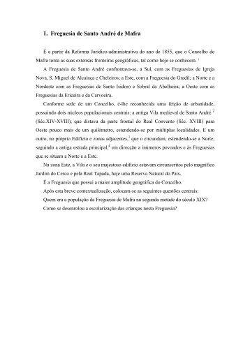 1. Freguesia de Santo André de Mafra - Universidade do Minho