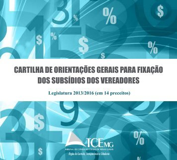 Cartilha Subsidios Vereadores - Tribunal de Contas do Estado de ...