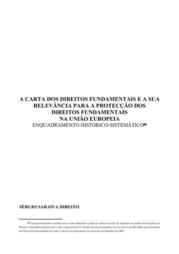 A Carta dos Direitos Fundamentais e a sua Relevância - DHnet