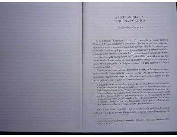A hegemonia da pequena politica In BRAGA, Ruy - A Foice eo Martelo