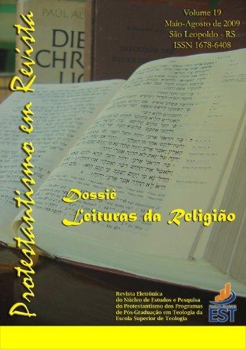 Protestantismo em Revista, v. 19 (ano 08, n. 2) - Faculdades EST