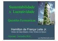 Sustentabilidade x Lucratividade - CASOI Desenvolvimento Imobiliário