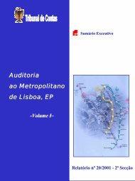 Relatório de Auditoria nº 20/2001 - Tribunal de Contas