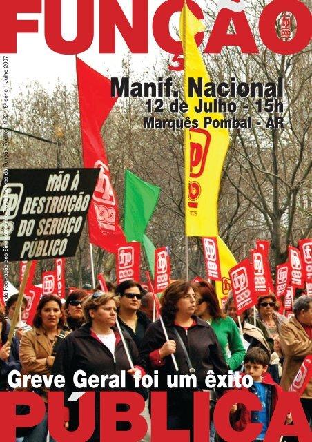 Julho 2007 - Sindicato dos Trabalhadores da Função Pública do ...