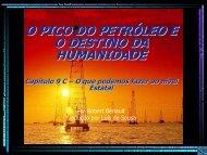 o pico do petróleo eo destino da humanidade - Peak Oil and the ...