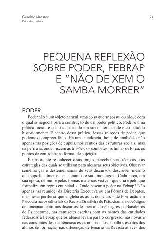 não deixem o samba morrer - PePSIC