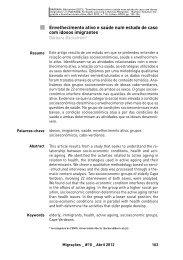 Envelhecimento ativo e saúde num estudo de caso com idosos ...