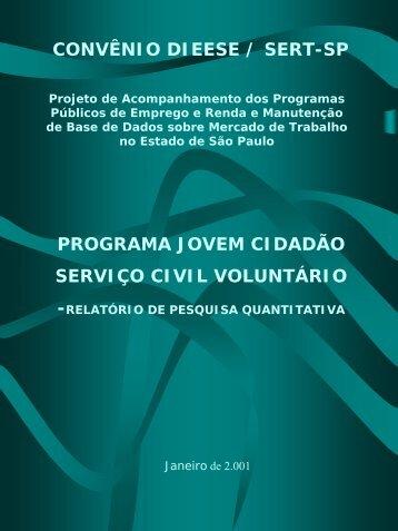 Programa Jovem Cidadão - Serviço Civil Voluntário - Dieese