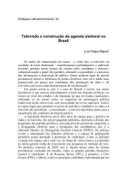 Televiso e construo da agenda eleitoral no Brasil - Latin American ...