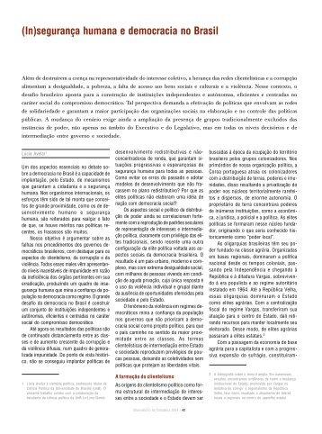 (In)segurança humana e democracia no Brasil - Social Watch